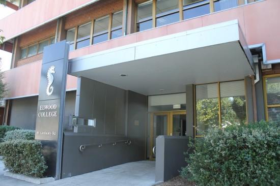 Eingang Elwood College