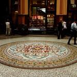 Melbourne Block Arcade rundes Bodenmosaik