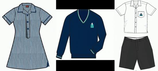 Die Sommer-Schuluniform des Elwood College