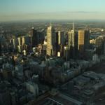 Melbourne Eureka Tower Skydeck Aussicht auf CBD