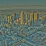 Melbourne Eureka Tower Skydeck Aussicht auf CBD als HDR