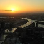 Melbourne Eureka Tower Skydeck Sonnenuntergang