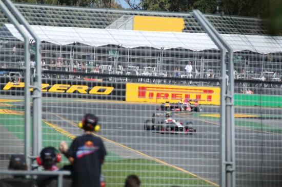 Melbourne Formel 1 Qualifying 2012 - Aussicht vom Baum