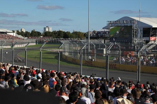 Melbourne Formel 1 Rennen 2012 - Albert Park Circuit Schikane