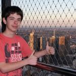 Melbourne - Ich auf dem Eureka Tower Skydeck