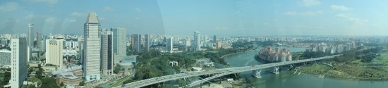Singapur - Singapore Flyer Panorama Aussicht