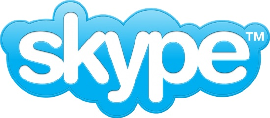 Kommunikation zwischen Deutschland und Australien - Skype Logo
