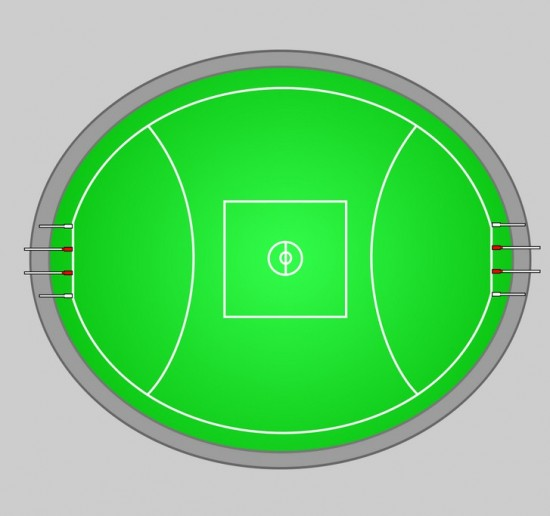 Australian Football Aussie Rules Footy - Spielfeld