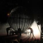 Australien - Silvers Circus 11 - Globe of Death Aufbauen - IMG_2256