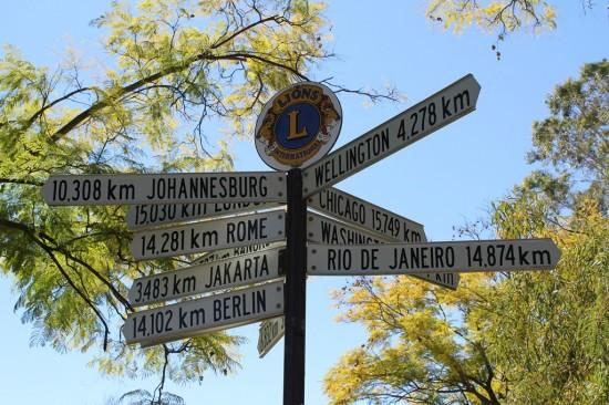 Alice Springs - Entfernungen zu Weltstädten - IMG_4156
