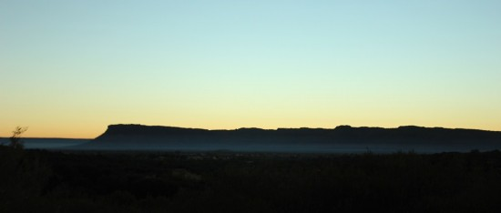 Outback - Morgennebel vor der George Gill Range - Kings Canyon - K-IMG_2803-2