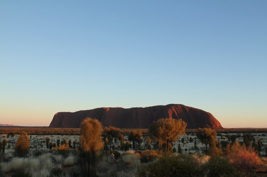 Outback - Sonnenaufgang am Uluru Ayers Rock - IMG_4715