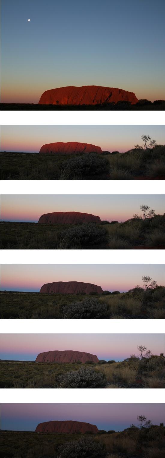 Outback - Uluru Sonnenuntergang Farbenspiel Serie