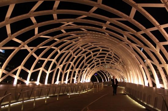 Melbourne Docklands Webb Bridge at night - IMG_7118