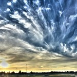 Caulfield Racecourse Sunset - Pseudo-HDR - IMG_7760_stitch-3