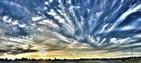 Caulfield Racecourse Sunset - Pseudo-HDR - IMG_7760_stitch-3