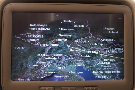 Rückflug Australien nach Deutschland Landeanflug Frankfurt