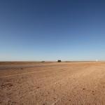 Die Wüste, unendliche Weiten...keine Vegetation, es scheint nur jemand seinen Tanklaster vergessen zu haben ;)