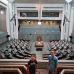 07 Daniel und Christoph im australischen Parlament Canberra - IMG_3686